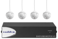 EasyUSB MicPOD I/O and Four Ceiling MicPODS