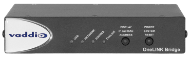 OneLINK Bridge for Vaddio HDBaseT Cameras