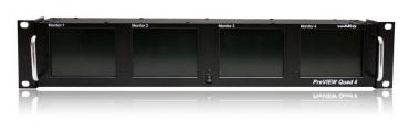 PreVIEW Quad 4 LCD SD Rack Mount Monitor